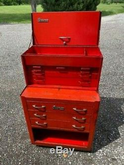 Vintage Snap-On Tool KR352 Roll Cab & KR56 Top Box Matching Combo 1956 With Keys