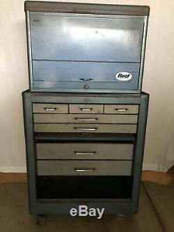 Vtg 1960's HUOT Tool Box Chest Rolling Cabinet -No Keys Like Craftsman SnapOn
