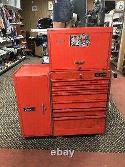 Vtg Snap On KR- 558B Roll Cab, KRA-59C Top Tool Box & KR-274A Side Cabinet