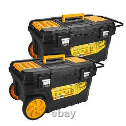 WrightFits Essential Mobile Tool Box Rolling Tool Chest (Twin Pack)