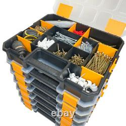 WrightFits Rolling Tool Storage Box With Stackable Tool Organiser Box 300-2 In 1